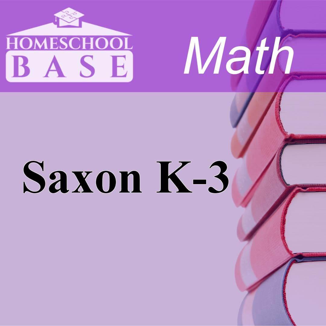 Saxon K-3Curriculum