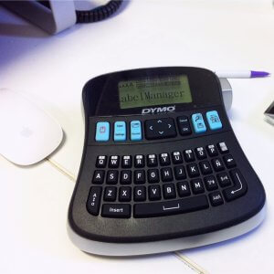 A DYMO label maker