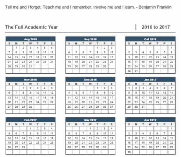photograph about Homeschool Calendar Printable known as Printable 2016-2017 Homeschool Calendar 12 months Homeschool Foundation