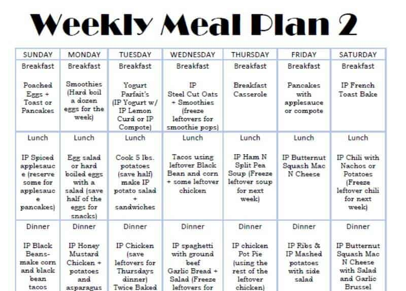 2 week meal plan pdf