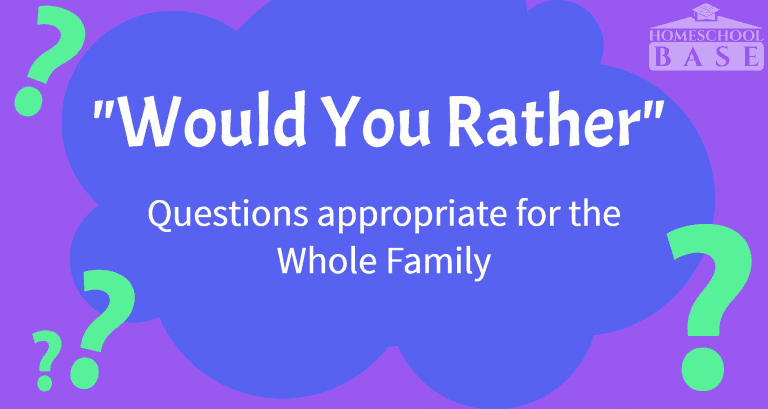 Would You Rather Questions for Kids and Family