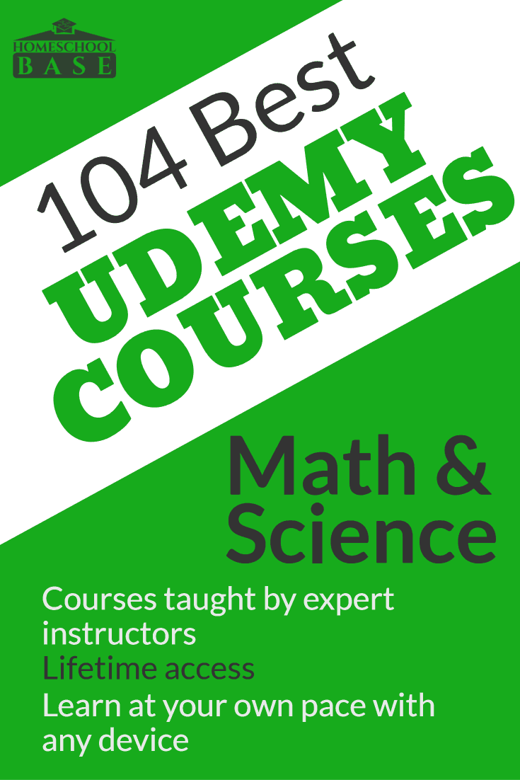 104 Best Math and Science Courses from Udemy | Homeschool Base
