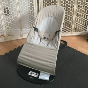 The light grey BabyBjorn Bouncer