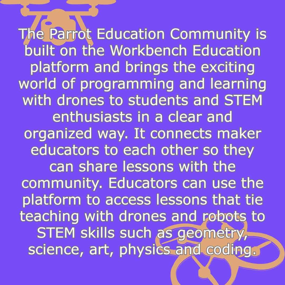 Parrot educational drone for kids facts