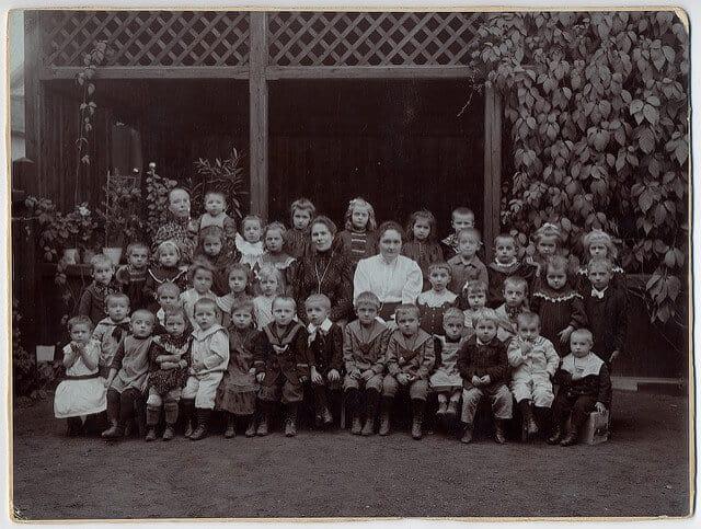 A German preschool/kindergarten circa 1900