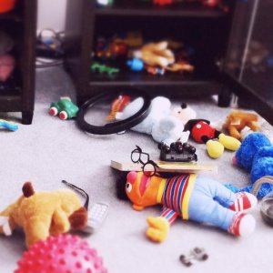 Chaos and toys in an ADHD playroom