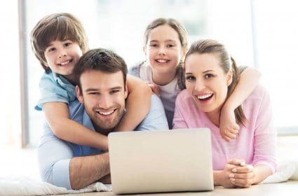 Happy Stock Image Family