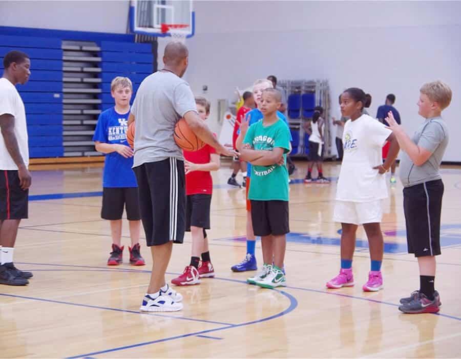 A basketball summer camp