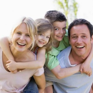 Another happy stock image family for learning styles