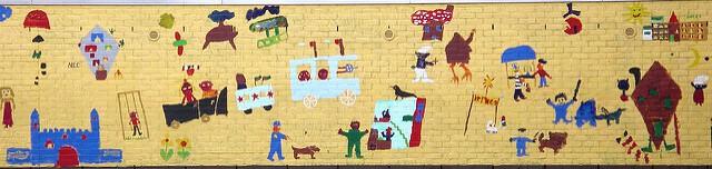 Artwork on a preschool wall