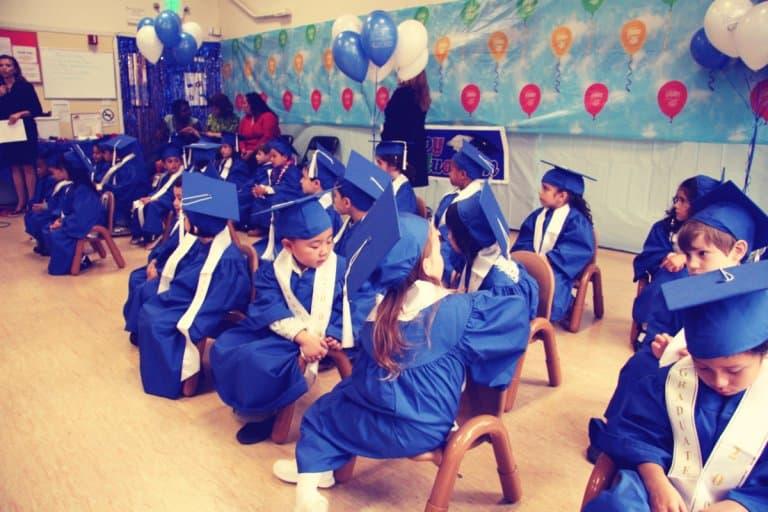 A preschool class graduation ceremony