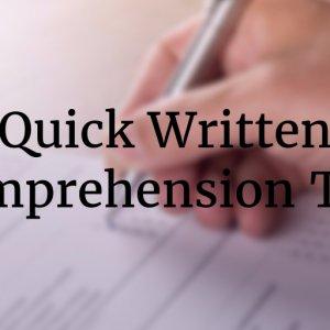Free Online Written Comprehension Test