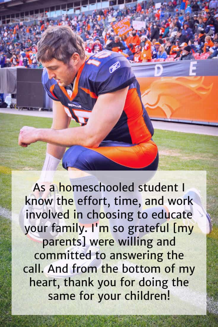Tim Tebow homeschool quote