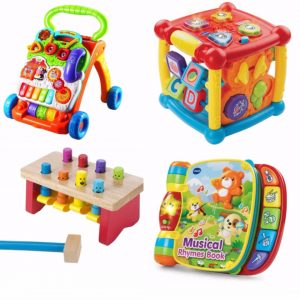 4 Different sensory toys