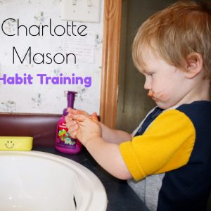 Child learning positive habits through a Charlotte Mason style of education
