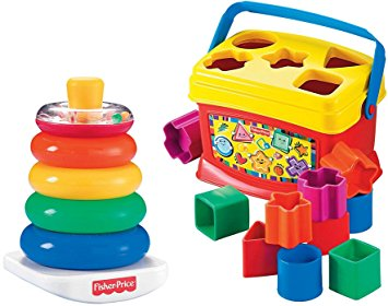 Rock-a-Stack and Baby's 1st Blocks Bundle Fisher-Price