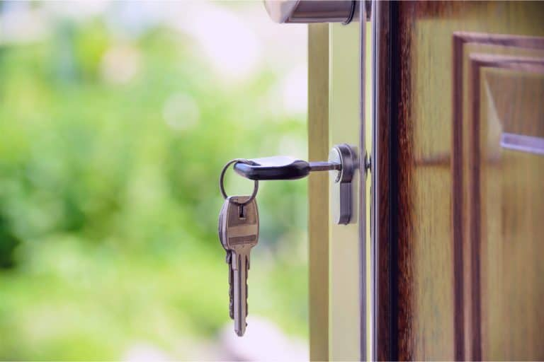 A key in a home door