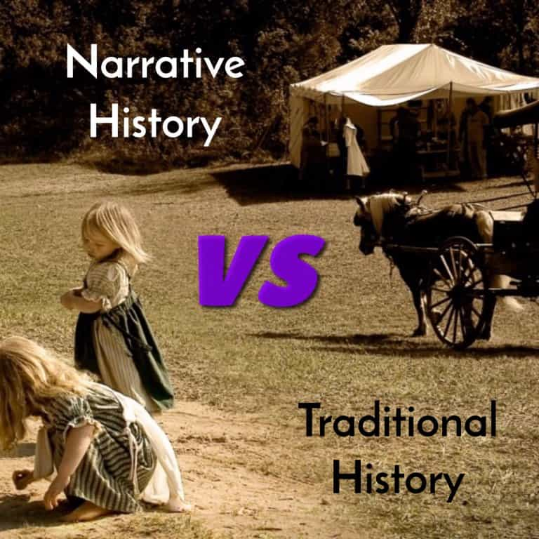 Comparing narrative history with traditional history
