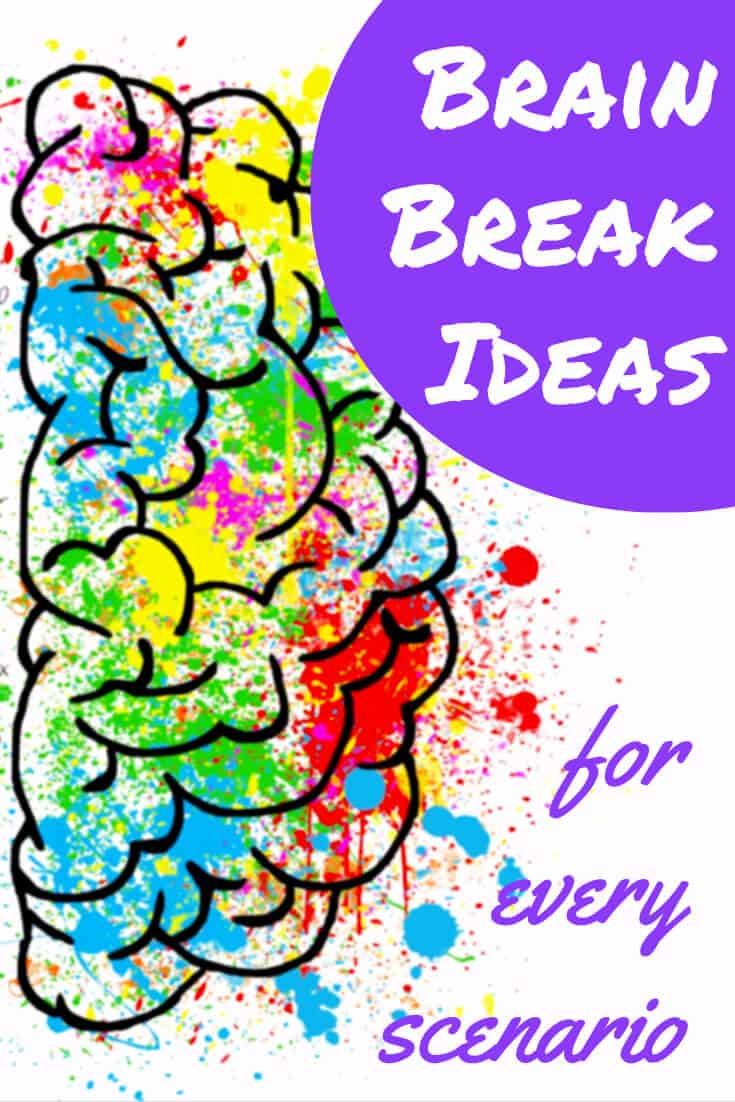 a big bunch of brain breaks - brain break ideas for every scenario