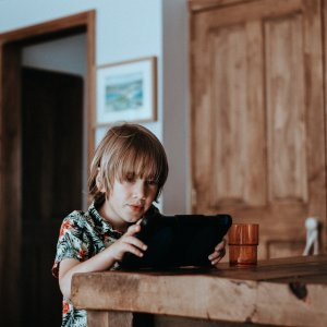 Homeschooling engaging in online learning