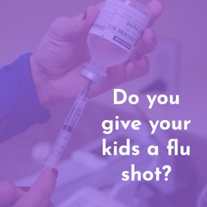 Preparing a flu shot vaccination